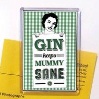 Mummy Gin Fridge Magnet Stocking Filler