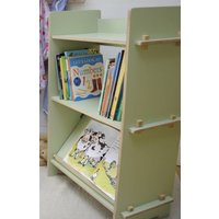 Bookcase, White/Lime/Light Blue