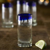 Tequila Shot Glass, Green/Blue/Red