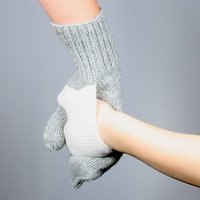 Pair Of Hand In Hand Gloves, Grey/Cream/Red