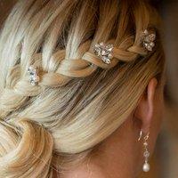 Set Of Downton Wedding Hair Pins, Silver/Gold
