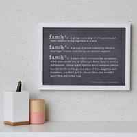 What Is A Family Definition Personalised Print