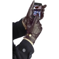 Men's And Ladies Leather Touch Screen Gloves, Black/Dark Brown/Brown
