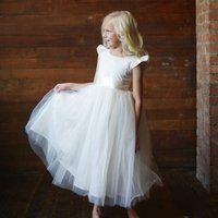 Cotton First Communion Or Flower Girl Dress