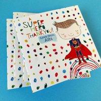 Personalised Superhero Thank You Cards