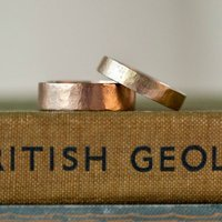 Organic Wide Gold Ring, Gold
