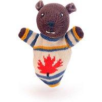 Hand Knitted Beaver Puppet