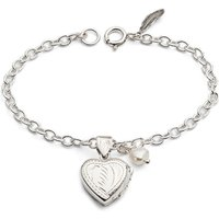Agnes Locket Bracelet On Chain With Pearl Charm