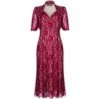 Forties Style Dress With Sweetheart Neckline Ruby Lace