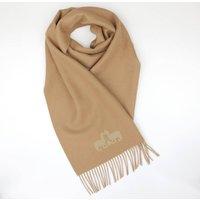 The Alpaca Co. Crest Scarf Camel, Camel/Gold/Cream