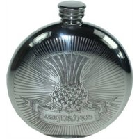 Thistle Usquabae Hip Flask With Engraving