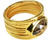 Lucia Ring Smoky Quartz And Gold, Gold