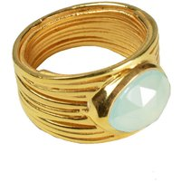 Lucia Ring Aqua Chalcedony And Gold, Gold