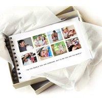 Daddy Memories Book, White/Black