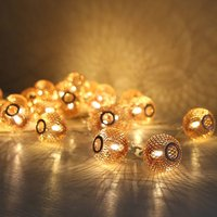 Copper Sphere Light Garland