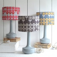 Bell Bottom Table Lamp With Verdure Shade, Rose/Mustard