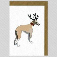 Illustrated Greyhound Deer Blank Card