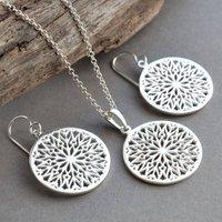 Silver Snowflake Jewellery Set, Silver