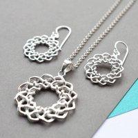 Silver Celtic Love Knot Jewellery Set, Silver
