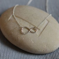 Sterling Silver Infinity Necklace, Silver