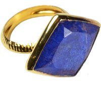 Phoenix Ring Lapis And Gold, Gold
