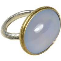 Sorrel Ring Chalcedony, Gold And Silver, Silver