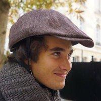 Tweed Cap Cycle Helmet And Cover
