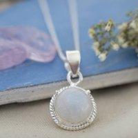 Round Moonstone Necklace