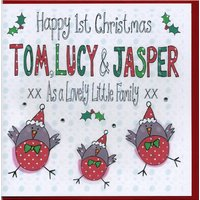 Personalised 1st Christmas As A Family Card