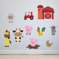 Farmyard Animals Wall Sticker