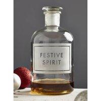 'Festive Spirit' Etched Bottle