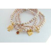 Amira Pearl Bracelet Stack, Amethyst/Citrine/Peridot