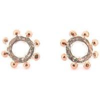 Casia Stud Earrings Silver Rose Gold, Silver