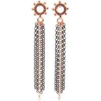 Casia Tassel Earrings Rose Gold And Black, Gold