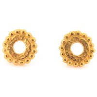 Dianthe Stud Earrings Gold, Gold