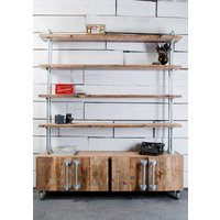 Jo Industrial Sideboard Unit With Shelves Above