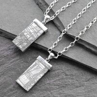 Muonionalusta Meteorite Sterling Silver Tipped Necklace, Silver