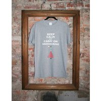 'Keep Calm And Carry On Snookering' T Shirt