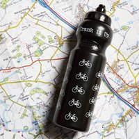 750ml Sports Water Bottle, Black/White/Red