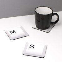 Geeky Computer Key Coaster
