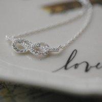 Infinity Cubic Zirconia Necklace