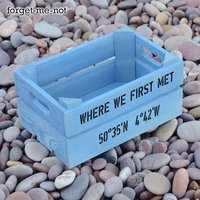Personalised Small Crate With Coordinates