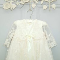 Charlotte Long Sleeved Lace Christening Gown