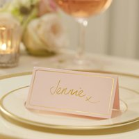 Pastel Pink And Gold Foiled Place Cards, Pink