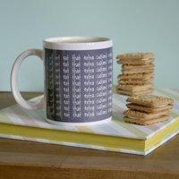 Personalised Chalkboard Lines Mug