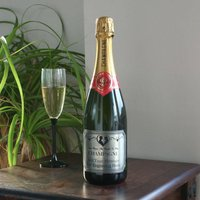 Personalised Champagne With Romantic Pewter Label