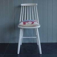 1960's Style Chair Hand Painted In Any Colour, White/Blue/Arsenic
