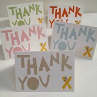 Set Of Five Thank You Cards And Stickers