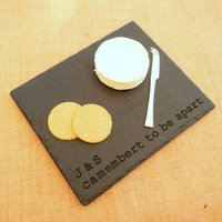 Cheesy Romantic Engraved Slate Board