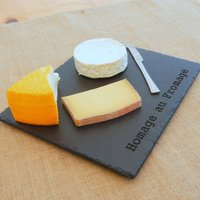 Homage Au Fromage Engraved Slate Board